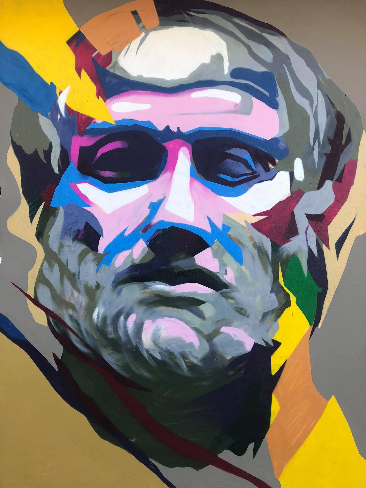 Προτομή του Αριστοτέλη, Graffiti